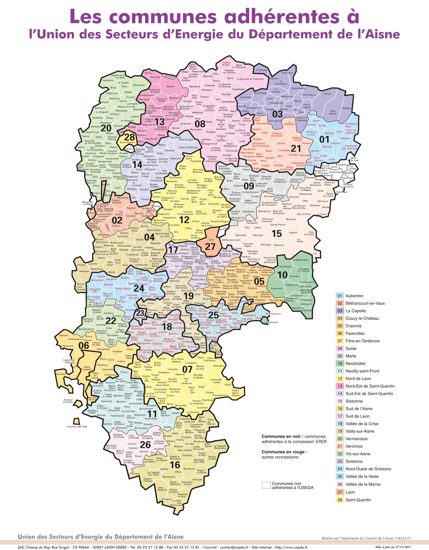 Carte des communes adhérentes
