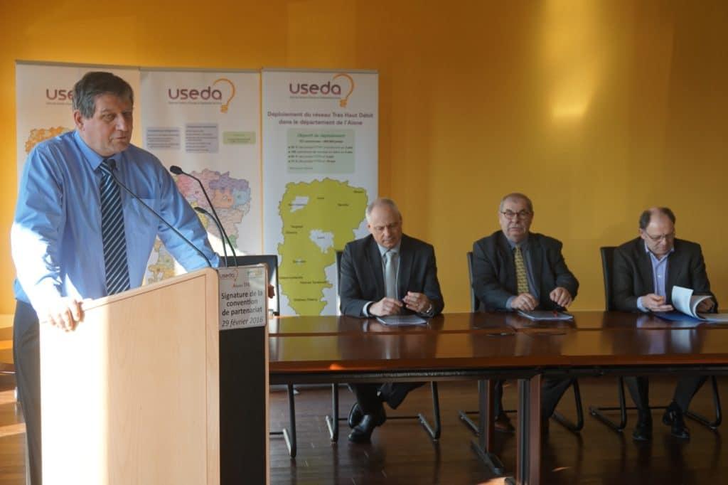 L'USEDA, ERDF et AISNE THD signent un partenariat pour favoriser le déploiement du Très Haut Débit dans l'Aisne