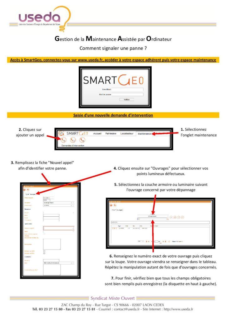 Mode d'emploi dépannage SmartGeo - page 01