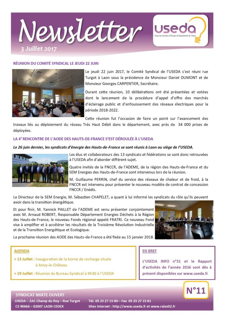 Newsletter USEDA N°11