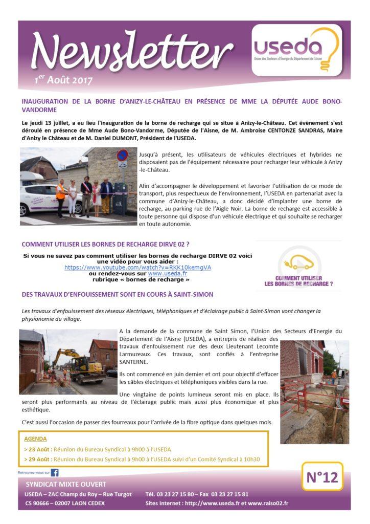 Newsletter USEDA N°12