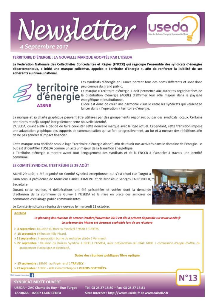 Newsletter USEDA N°13