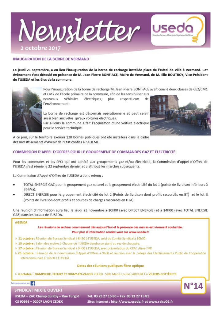 Newsletter USEDA N°14