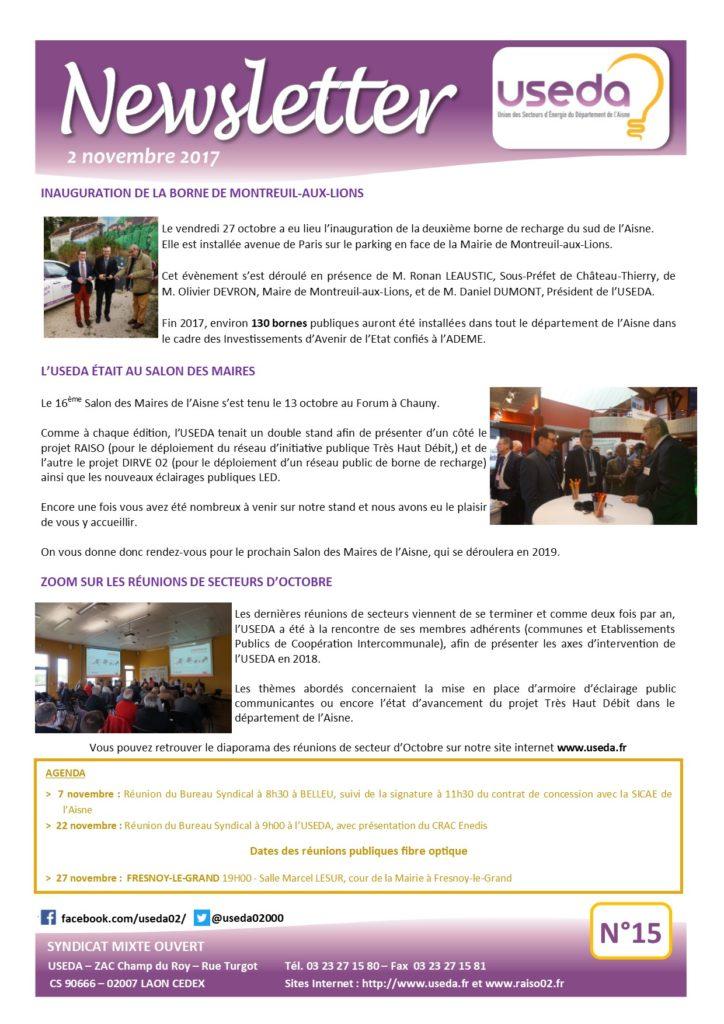 Newsletter USEDA N°15