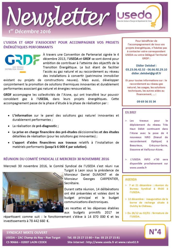 Newsletter USEDA N°4