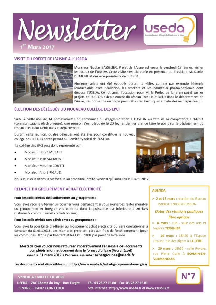 Newsletter USEDA N°7