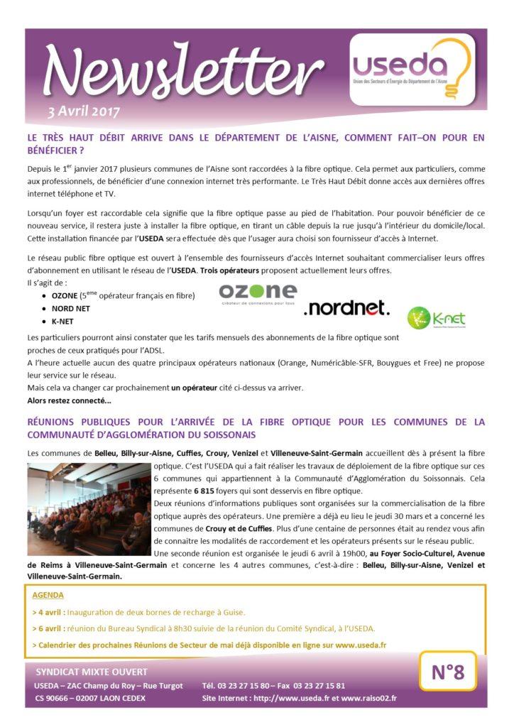 Newsletter USEDA N°8