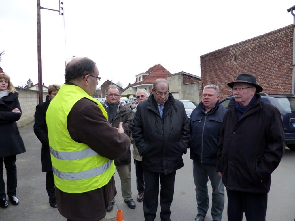 Première visite de chantier du réseau Très Haut Débit à Chauny