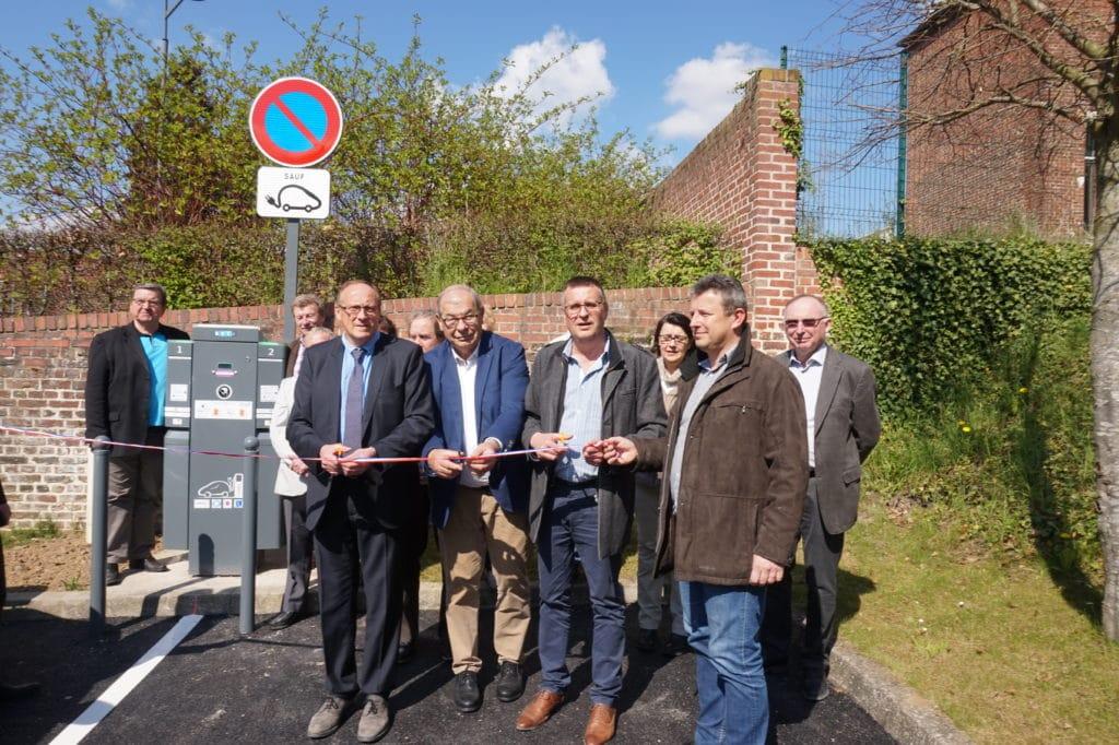 Inauguration nouveau service public d'électromobilité à Guise en avril 2017