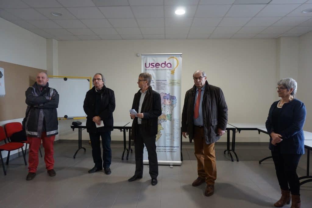 Inauguration de la chaufferie bois de Sissonne, le 20 mars 2018
