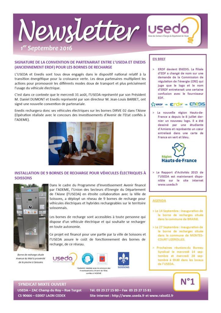 Newsletter USEDA N°1