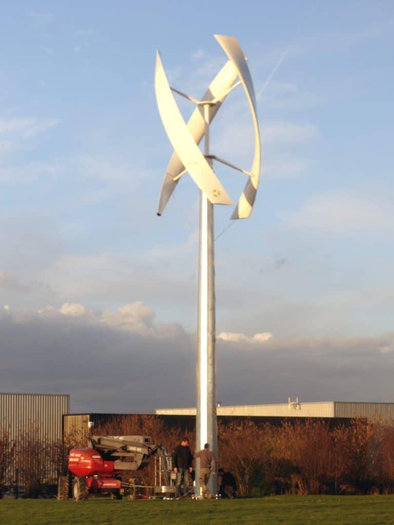 Une éolienne à l'USEDA